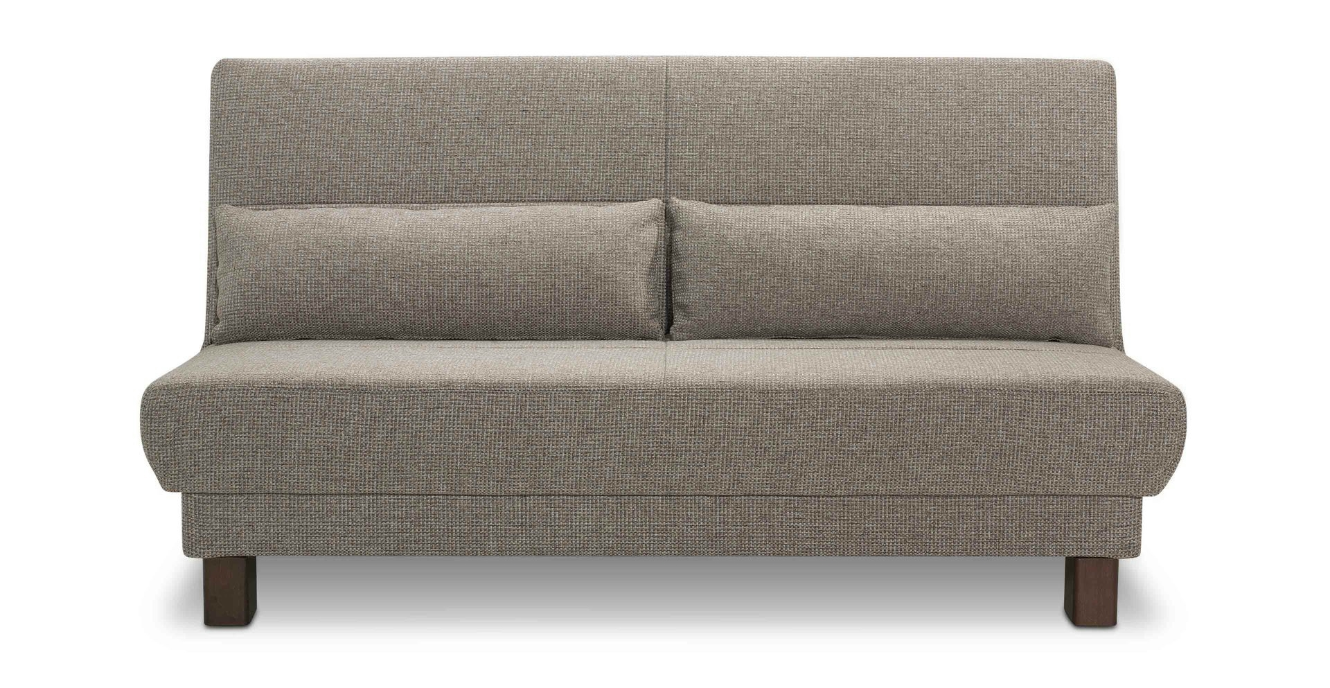 Schlafcouch schlafsofa sitzer schlafcouch bett in grau for Schlafcouch mit boxspring