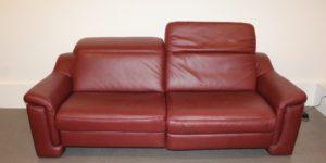 Leder Relaxsofa 4052 von Interliving Hukla Longlifelederbezug Credo barolo PolsterLand Nagold